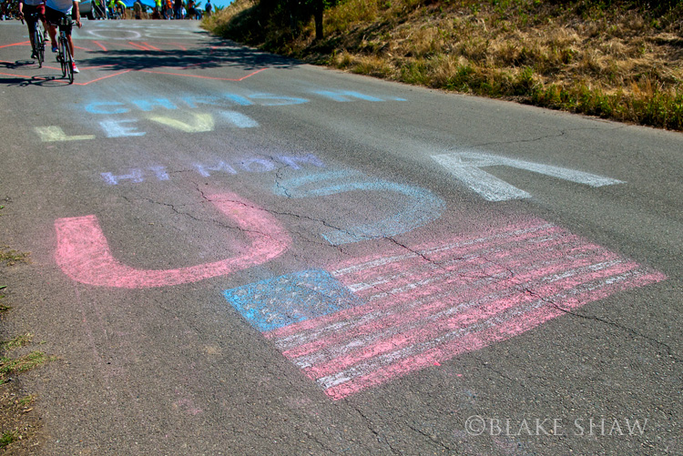 Usa road chalk
