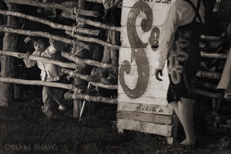 Izamal bullfight little girl