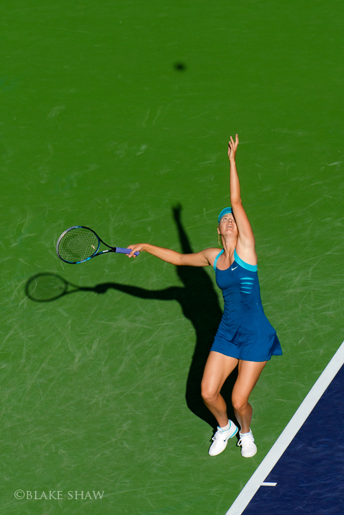 Maria sharapova serve