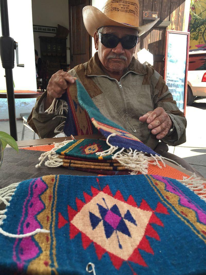 Oaxaca rug seller