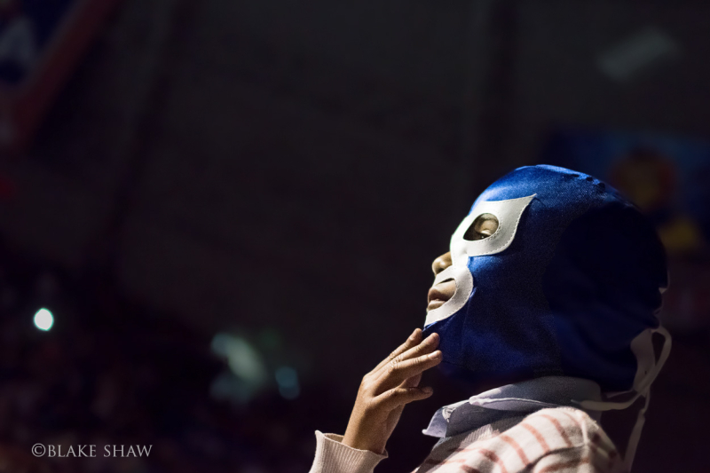 Boy in blue mask