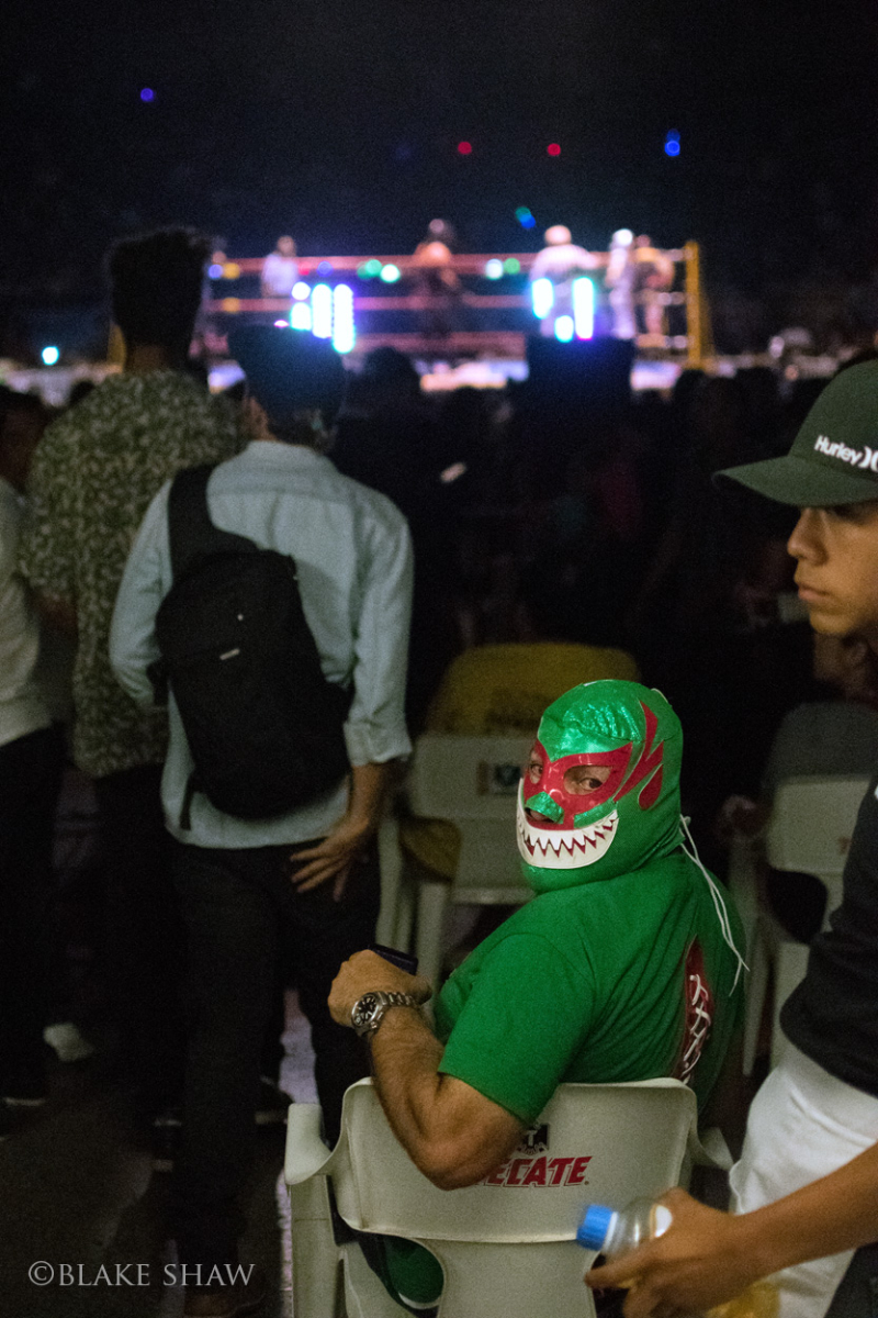 Lucha libre fan in green