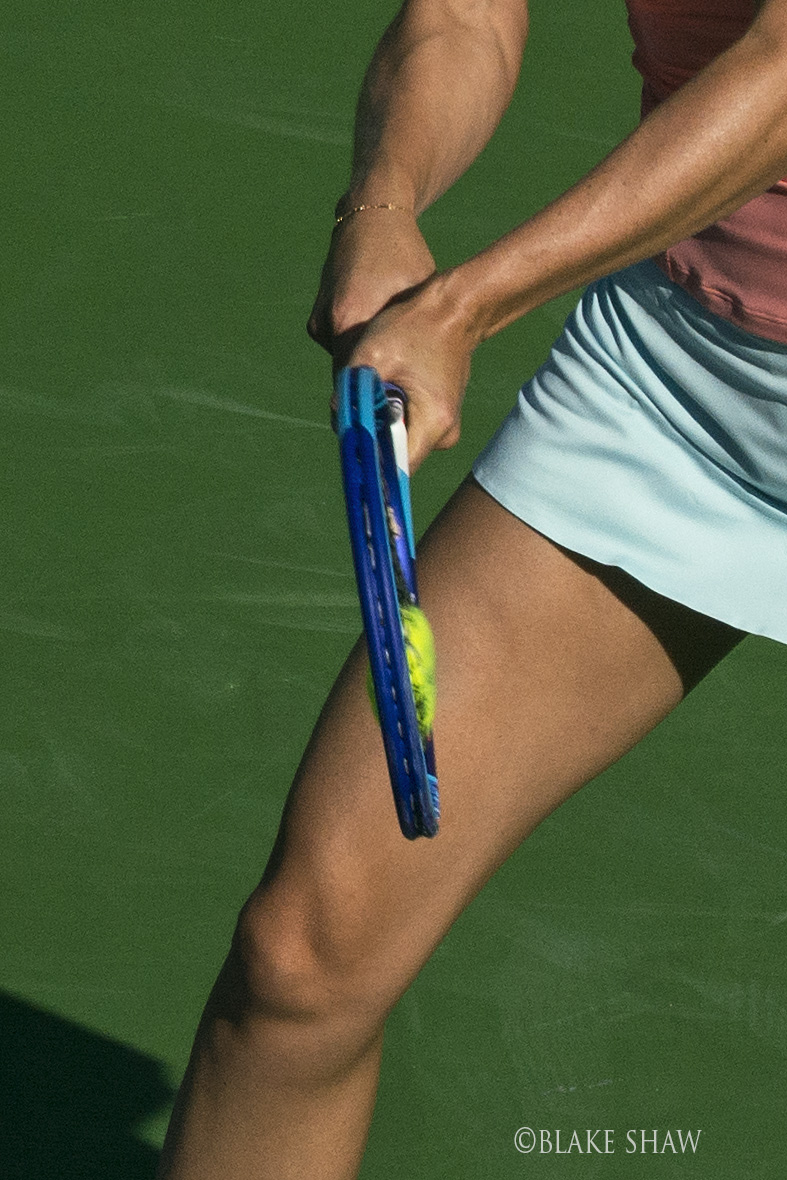 Tennis ball crushed
