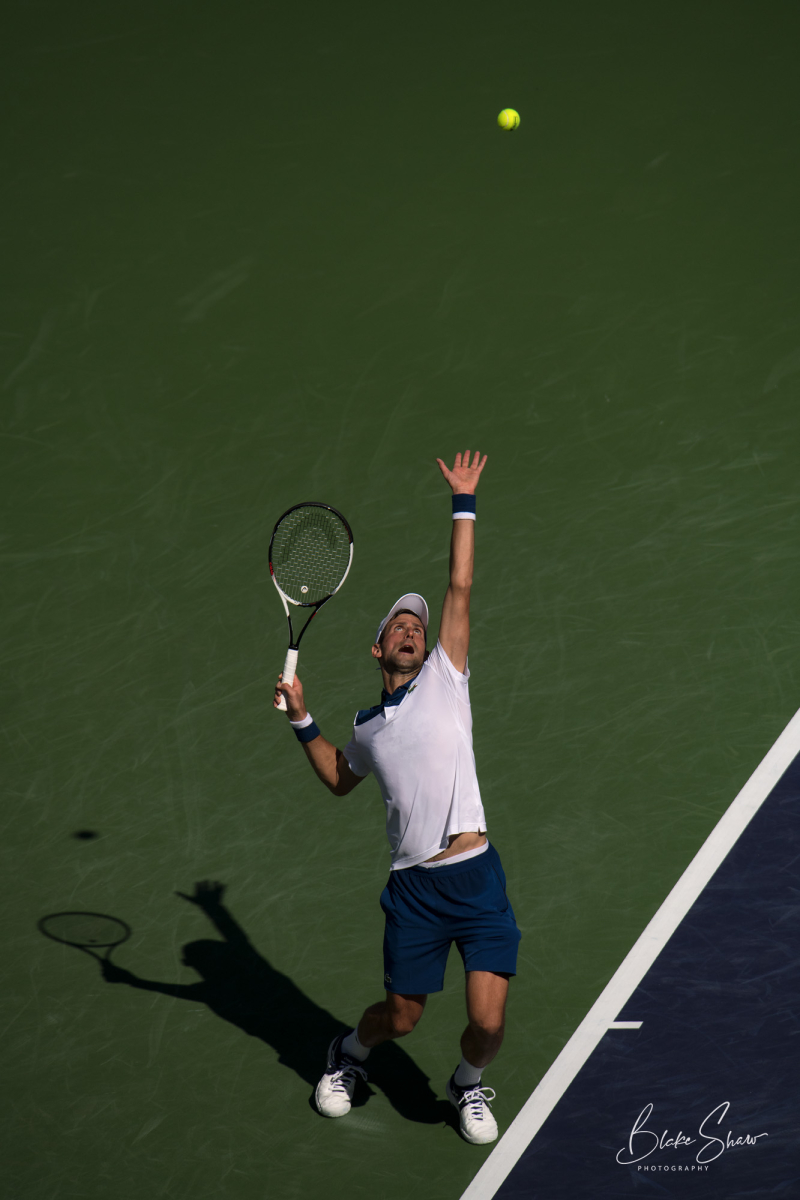 Novak djokovic serve indian wells