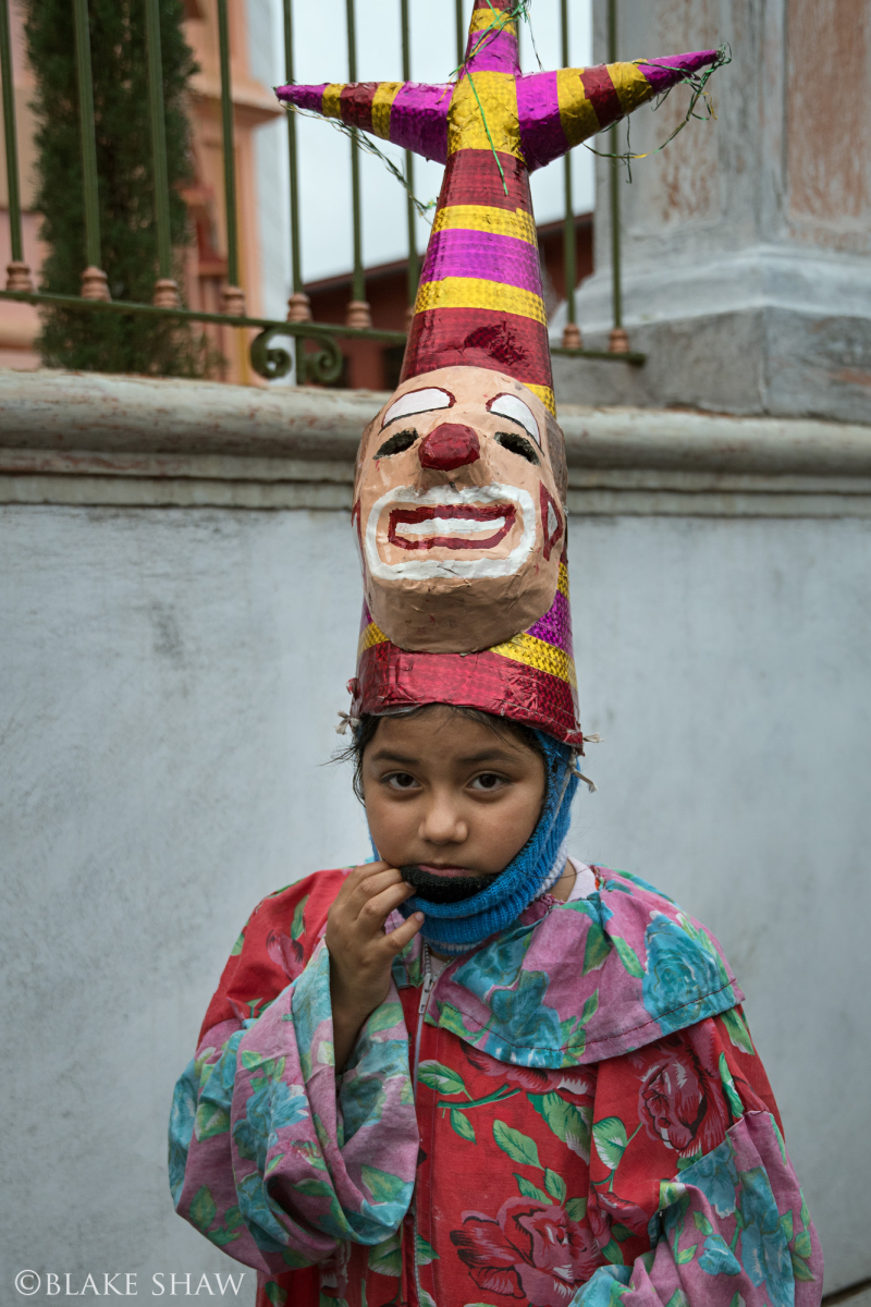 Coatepec girl clown