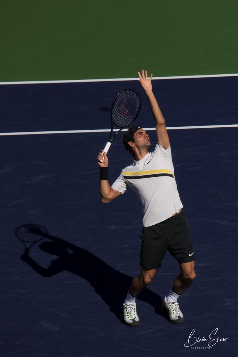 Roger federer overhead